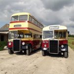 Two BCN buses together after 40yrs apart
